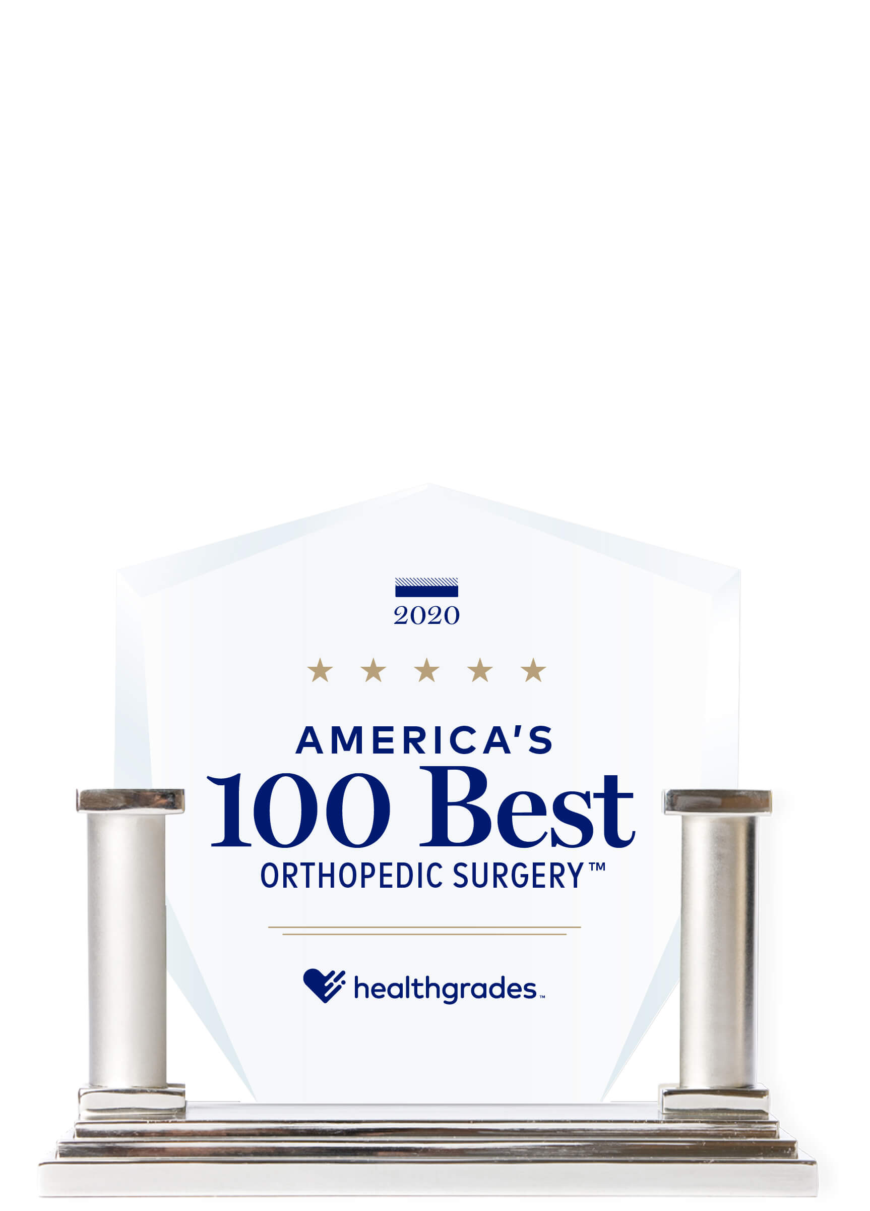 Healthgrades America's 100 Best Orthopedic Surgery Trophy 2020