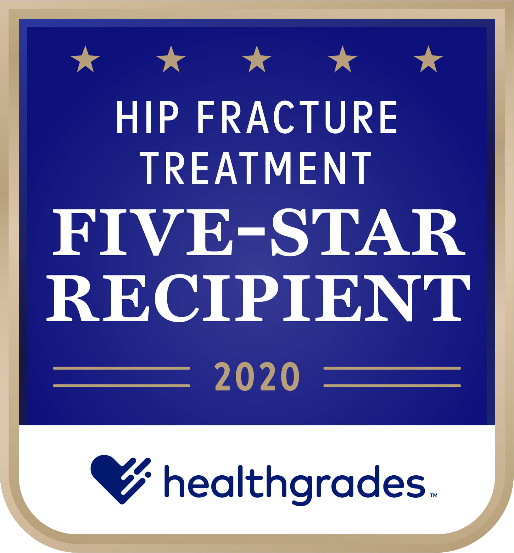 Healthgrades Five-Star Recipient for Hip Fracture Treatment Award 2020