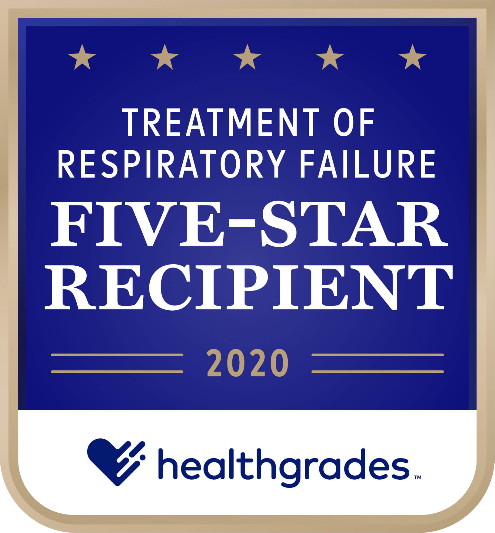 Healthgrades Five-Star Recipient for Treatment of Respiratory Failure Award 2020