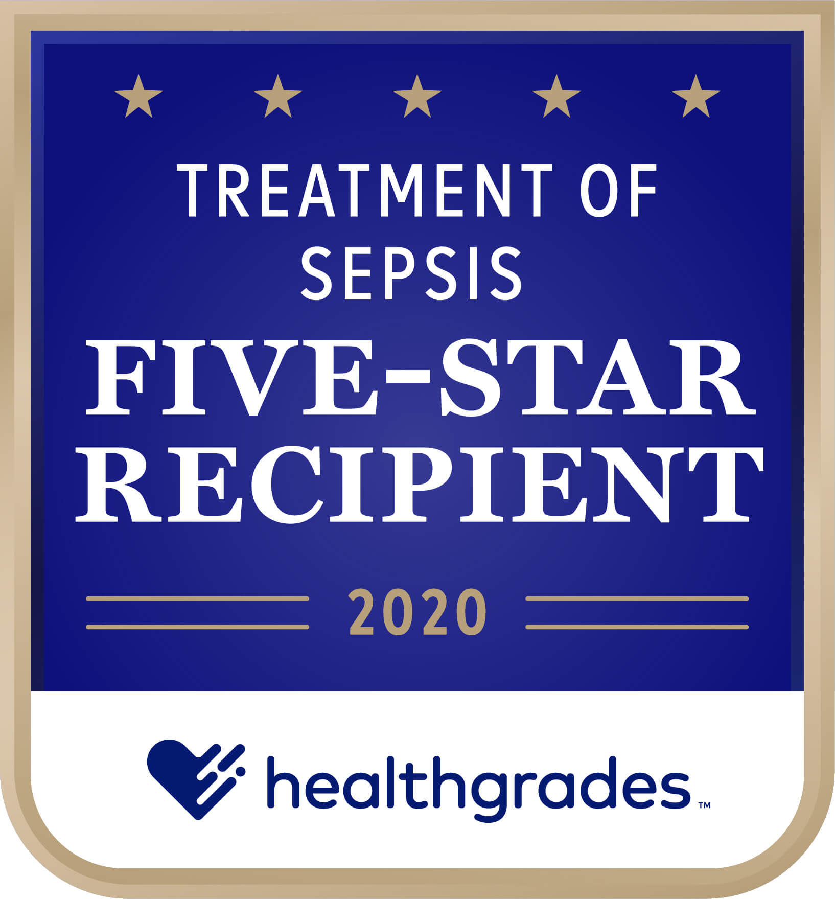 Healthgrades Five-Star Recipient for Treatment of Sepsis Award 2020