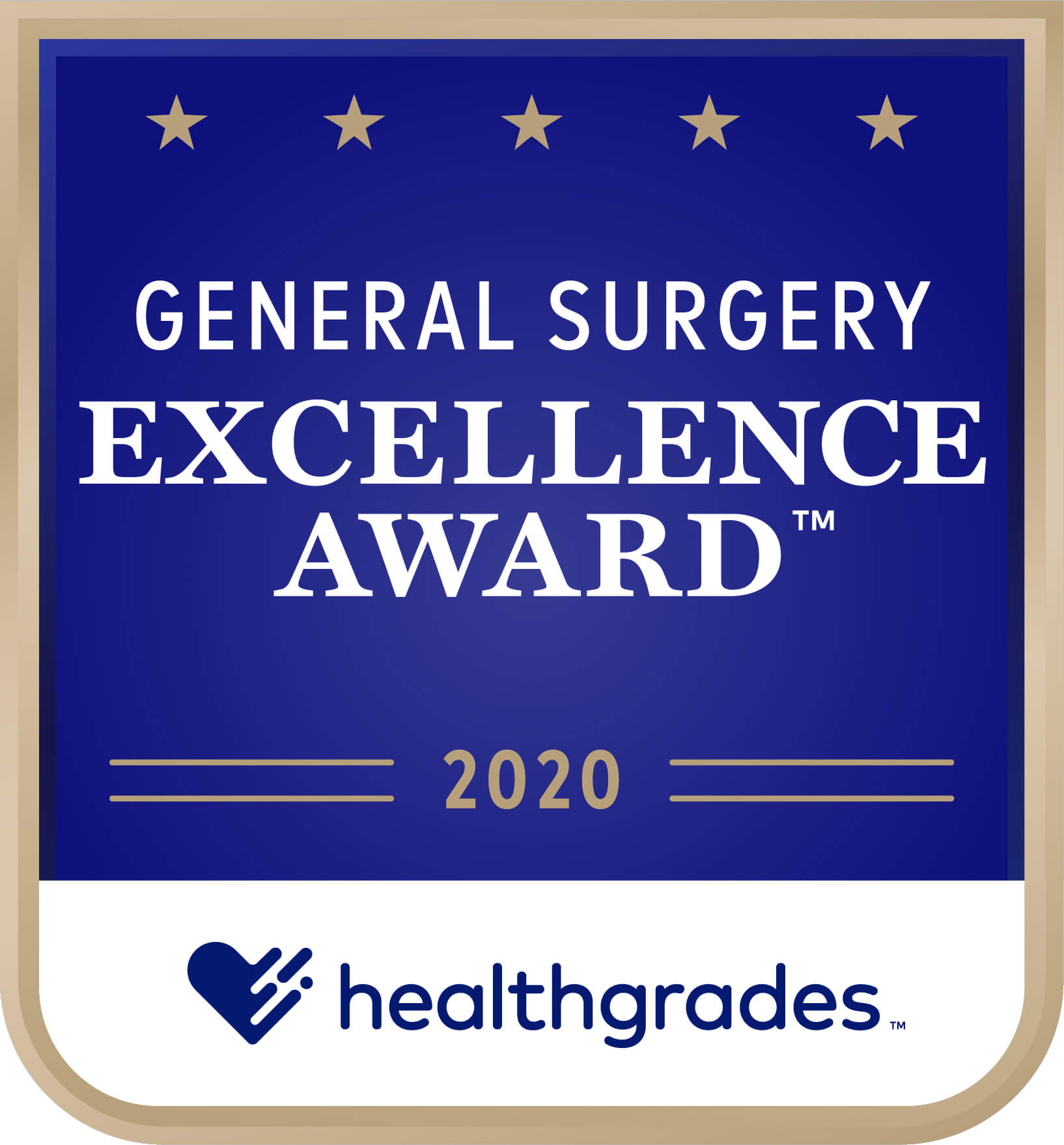 Healthgrades Excellence Award for General Surgery 2020