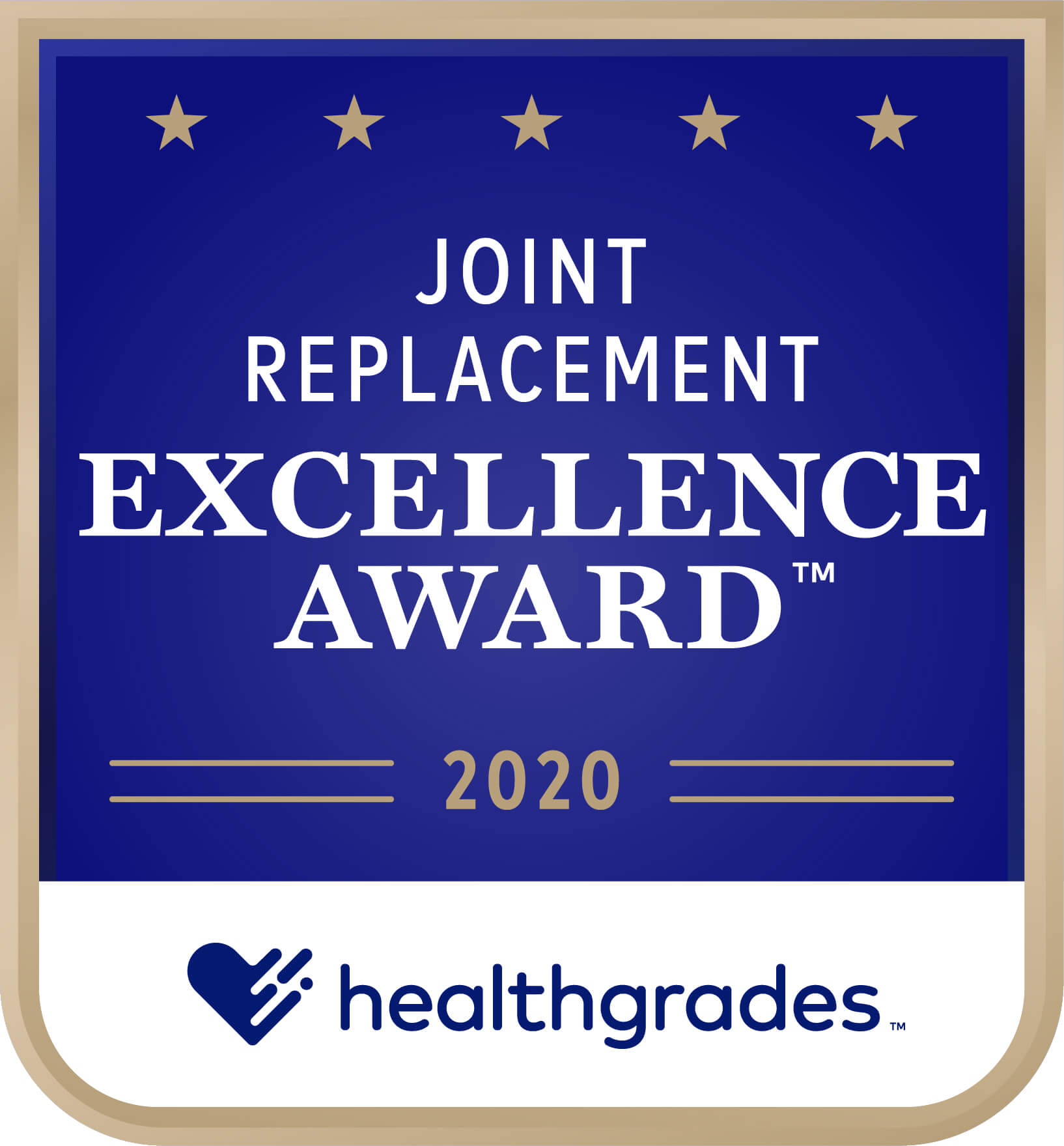 Healthgrades Excellence Award for Joint Replacement 2020