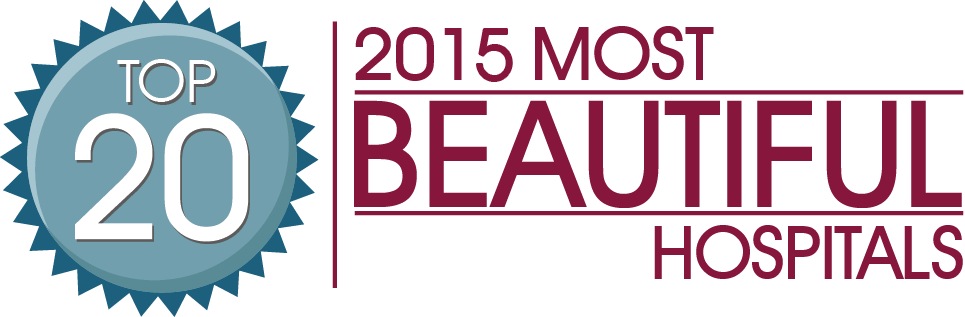 2018 Most Beautiful Hospitals award logo